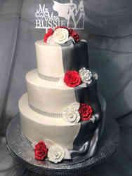 Elegant 29 Metallic Drape Wedding Cake