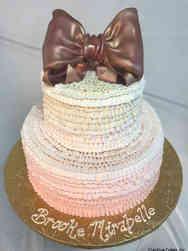 Girls 16 Ombre Ruffles Baby Shower Cake