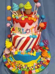 Unique 28 Candyland Birthday Cake