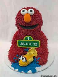 Neutral 35 3D Elmo FIrst Birthday Cake