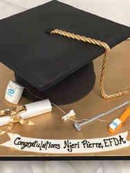 Grad School 06 Giant Grad Hat Dental School Graduation Cake