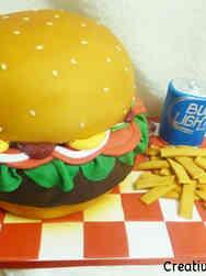 Food 14 Hamburger Meal Birthday Cake