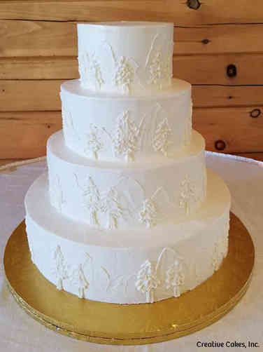 Trendy 02 Buttercream Mountains Wedding Cake