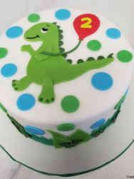 Animals 12 Adorable Dinosaur Round Cake