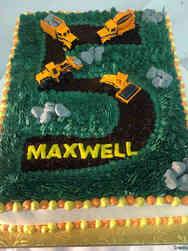 Unique 58 Construction Equipment Birthday Cake