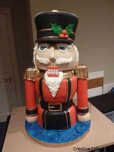 Winter 17 3D Nutcracker Holiday Celebration Cake