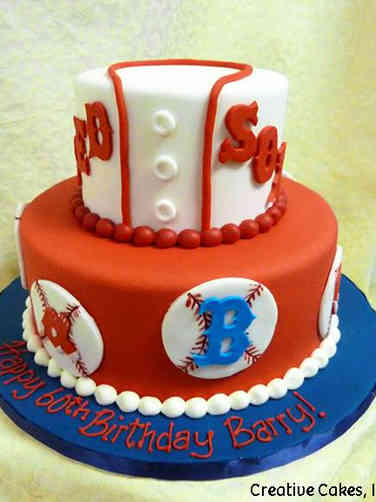 Sports 17 Boston Red Sox Birthday Cake