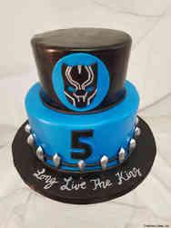 Superheroes 29 Black Panther Birthday Cake