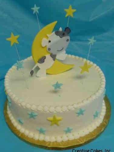 Neutral 35 Nursery Rhyme Baby Shower Cake