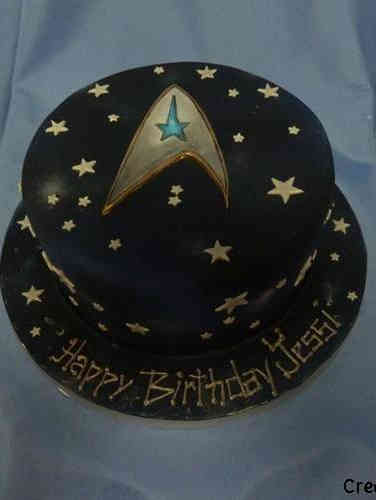 Pop 30 Star Trek Birthday Cake