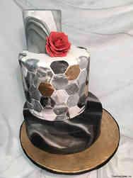 Trendy 23 Tiled Marble Wedding Cake