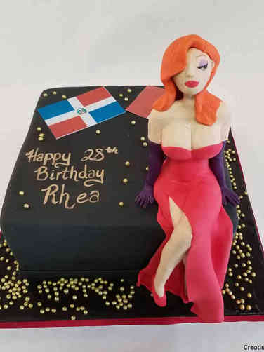 Pop 55 Jessica Rabbit Birthday Cake