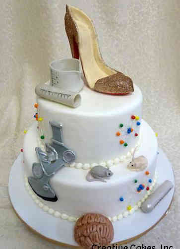 Hobbies 33 Neurologist High Heel Birthday Cake