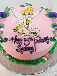 TV 12 Tinkerbell Birthday Cake