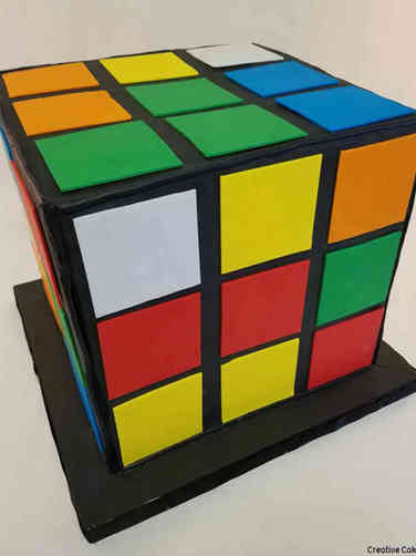 Sports 54 Rubik's Cube Birthday Cake
