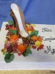 Fashion 61 Leopard Print Heel Birthday Cake