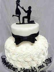 Unique 13 Proposal Silhouette Engagement Celebration Cake