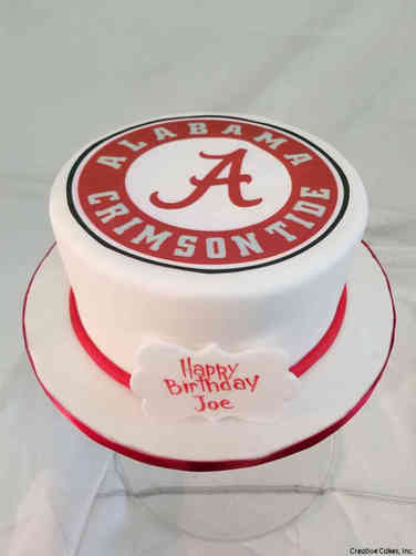 Sports 43 Alabama Crimson Tide Birthday Cake