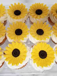 Other 04 Sunflower Baby Shower Cupcakes