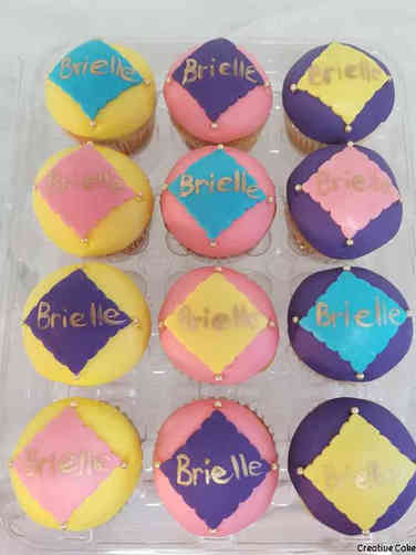 Kids 14 Birthday Girl Cupcakes