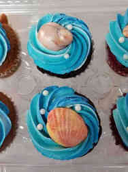 Other 08 Ocean and Seashells Celebration Cupcakes