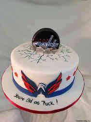 Sports 47 Washington Capitals Hockey Birthday Cake
