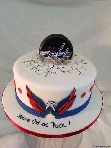 Sports 47 Washington Capitals Hockey Birthday Cake