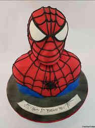 Superheroes 35 Spiderman Bust Birthday Cake