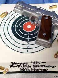 Hobbies 05 Pistol Birthday Cake