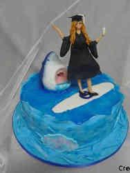 High School 23 Surfer Girl High School Graduation Cake