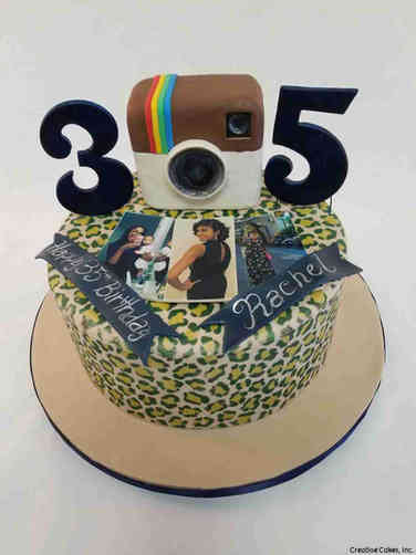 Hobbies 65 Instagram Birthday Cake