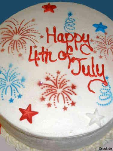 Summer 03 Fireworks Independence Day Cake