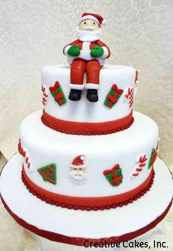 Winter 15 Sitting Santa Holiday Celebration Cake