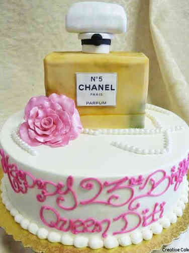 Fashion 05 Chanel No. 5 Birthday Cake