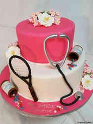 Hobbies 12 Doctor's Tennis Birthday Cake