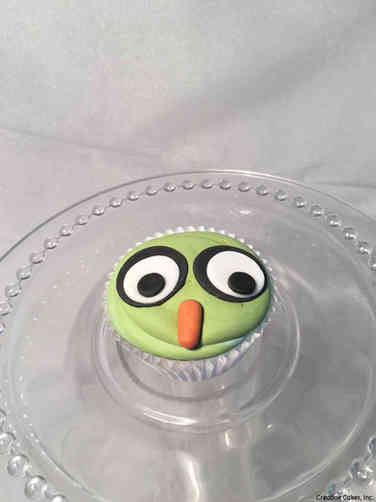 Kids 33 Quizical Owl Birthday Cupcake
