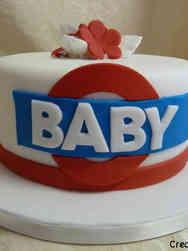Neutral 33 London Underground Baby Shower Cake