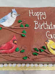 Hobbies 57 Birdwatching Birthday Cake