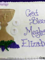 Communion 07 Chalice and Grapes First Communion Sheet Cake