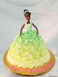 Princesses 36 Princess Tiana Birthday Cake