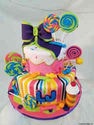 Unique 53 Neon Candy Birthday Cake