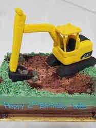 Unique 11 Construction Digger Birthday Cake