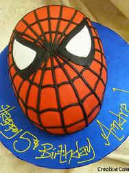 Superheroes 22 Spiderman Face Birthday Cake