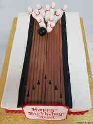 Sports 14 Bowling Birthday Cake