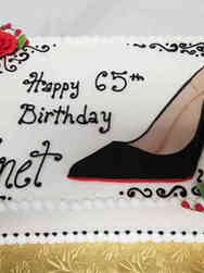 Fashion 30 Flat Art Louboutin Birthday Cake