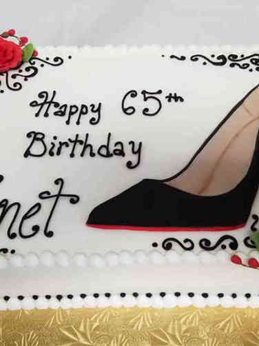 Fashion 30 Flat Art Louboutin Birthday Cake