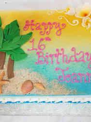 Unique 12 Beach Scene Birthday Cake