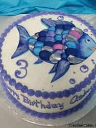 Movies 19 Rainbow Fish Birthday Cake