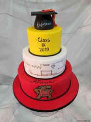 College 33 University of Maryland Engineering Graduation Cake