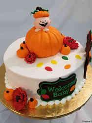 Neutral 51 Baby Pumpkin Baby Shower Cake